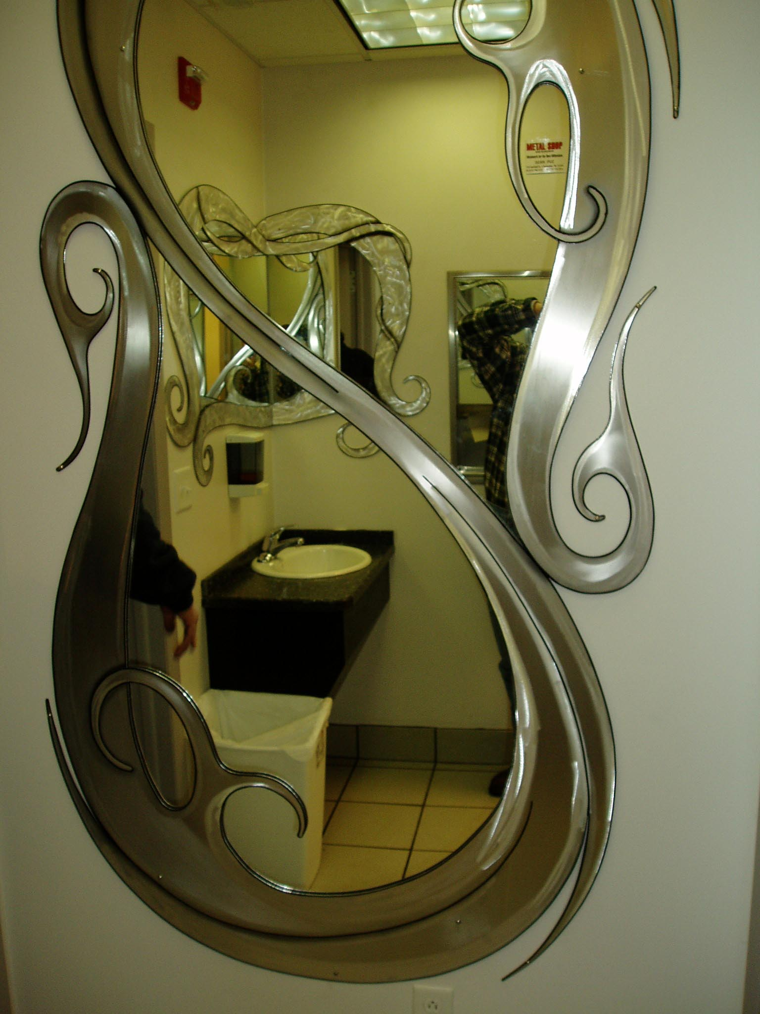 Elegant mirror 8 feet tall by 4 feet wide